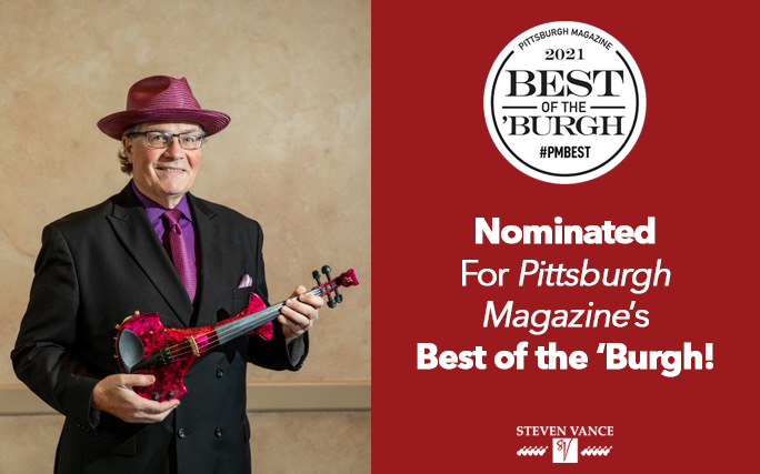 Steven Vance Nominated for Pittsburgh Magazine's Best of the 'Burgh